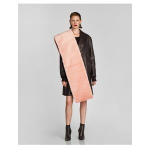 Zara reversible textured scarf
